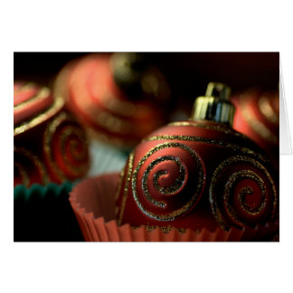 HAPPY HOLIDAYS - Chistmas Bauble Cupcakes Greeting Card