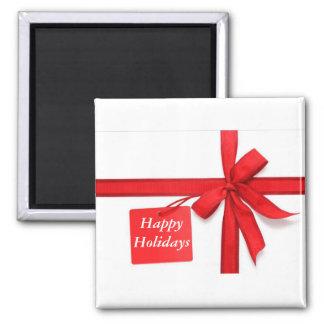 Happy Holidays Christmas Bow Fridge Magnet