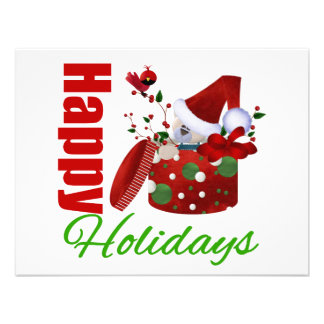 Happy Holidays Christmas Box Personalized Announcements