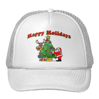 Happy Holidays Christmas Decorating Cap