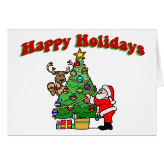 Happy Holidays Christmas Decorating Card