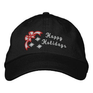 Happy Holidays christmas embroidered women's hat Embroidered Hats