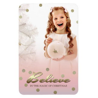 Happy Holidays. Christmas Gift Photo Magnets