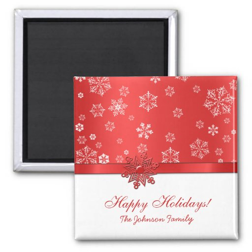 Happy Holidays - Christmas Greeting Magnets