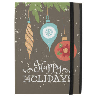 "Happy Holidays Christmas Ornaments Decorative iPad Pro 12.9"" Case"