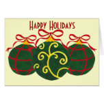 Happy Holidays - Christmas Ornaments Greeting Card