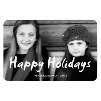 Happy Holidays Christmas Photo Holiday Wishes Fun Magnet