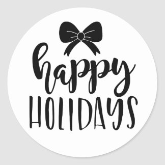 Happy holidays, Christmas sticker