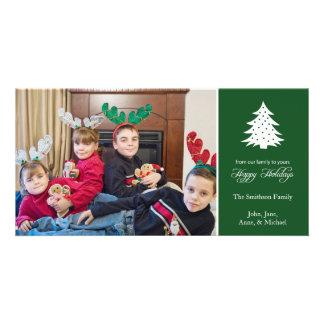 Happy Holidays Christmas Tree (Evergreen) Photo Card Template