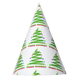 HAPPY HOLIDAYS CHRISTMAS TREE PARTY HAT