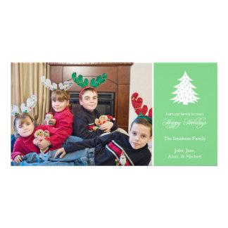 Happy Holidays Christmas Tree Photo Cards (Mint)