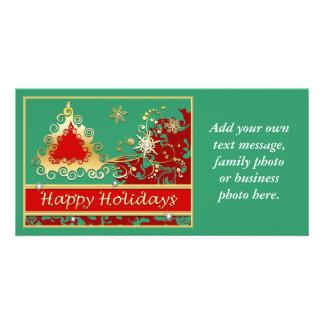 Happy Holidays Christmas Tree Custom Photo Card