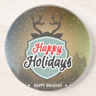 Happy Holidays Coasters
