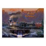 Happy Holidays!  Colorado Steam Train/snow Greeting Card