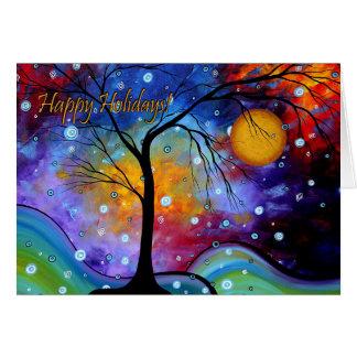 Happy Holidays Colorful Art Greeting Card MADART