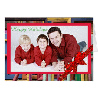 Happy Holidays Colorful Frames Christmas Card
