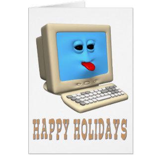 HAPPY HOLIDAYS COMPUTER GREETING CARD