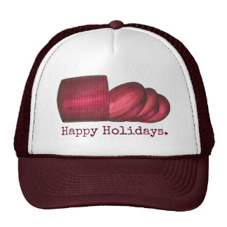 Happy Holidays Cranberry Sauce Christmas Hat