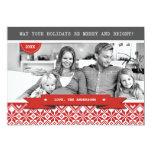 Happy Holidays. Custom Christmas Photo Cards 13 Cm X 18 Cm Invitation Card