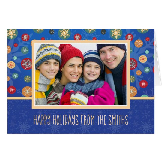 Happy Holidays Custom Family Photo Card