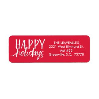Happy Holidays | Custom Holiday Address Label
