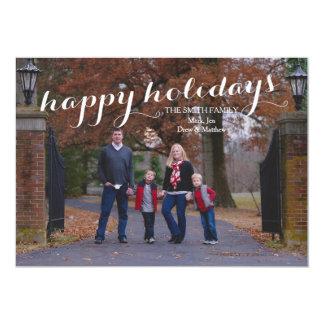 Happy Holidays Custom Photo Card 13 Cm X 18 Cm Invitation Card