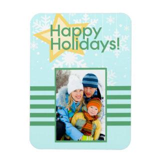 Happy Holidays Custom Photo Flexi Magnet