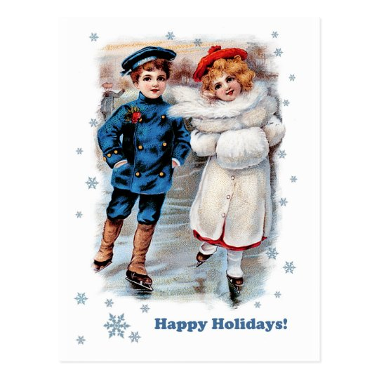 Happy Holidays. Customisable Christmas Postcards