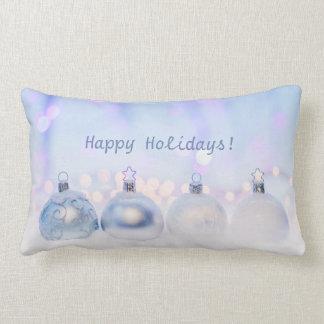 Happy Holidays Customisable Lumbar Pillow