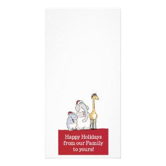 happy holidays customizable photo card
