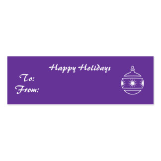 Happy Holidays - Customized Business Cards