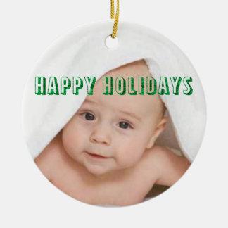 Happy Holidays Customized Ceramic Ornament