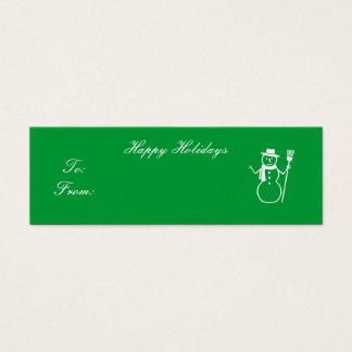 Happy Holidays - Customized Mini Business Card