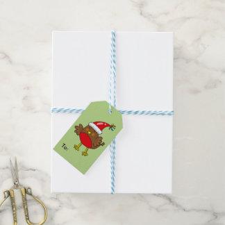 Happy Holidays Cute Christmas Robin Gift Tags