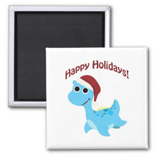 Happy Holidays! Cute Nessie Magnet