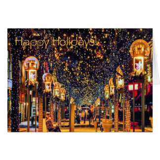 Happy Holiday's, Denver, CO 16th Street Mall Card