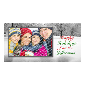 Happy Holidays Digital Photo Cards Winter Scene
