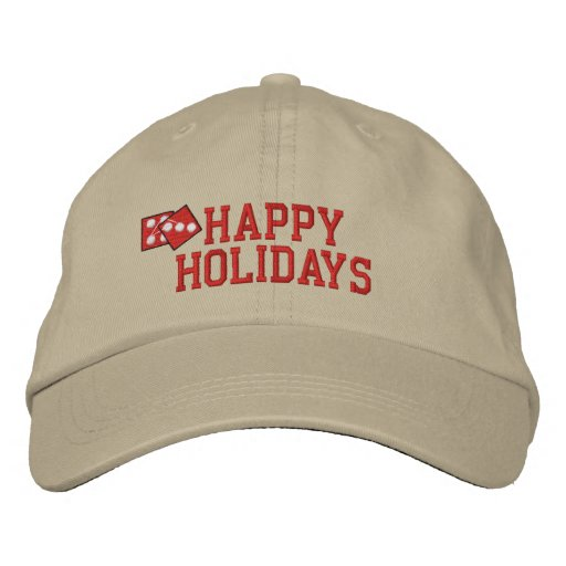 Happy Holidays Embroidered Hat