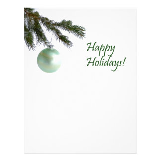 Happy Holidays Evergreen Christmas Ornament 21.5 Cm X 28 Cm Flyer