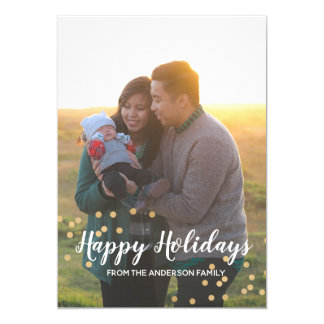 Happy Holidays Family Christmas Greeting Card