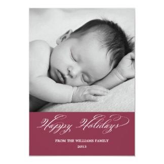 Happy Holidays Family Photo Card 13 Cm X 18 Cm Invitation Card