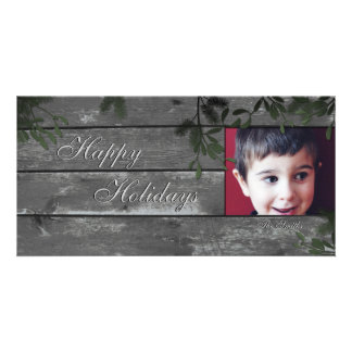 Happy Holidays Family Photo Card - Mistletoe Holly