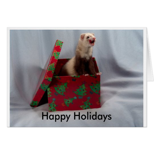 Happy Holidays Ferret Card