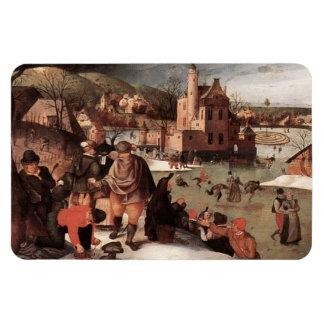 Happy Holidays. Fine Art Christmas Gift Magnet