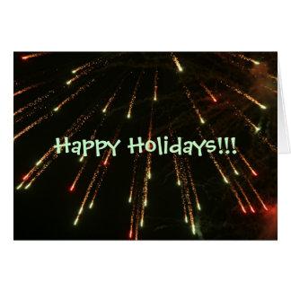 Happy Holidays Fireworks Card