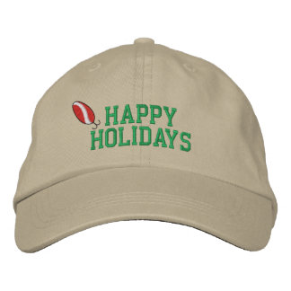 Happy Holidays Fishing Embroidered Hat