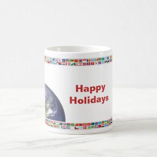 Happy Holidays Flags of the World Mug