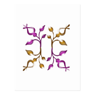 Happy HOLIDAYS : Floral JEWEL Decorations Postcard