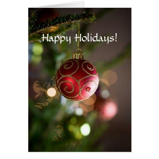 Happy Holidays folded card