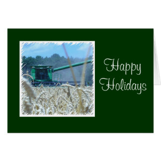 Happy Holidays For Family Farm or Business Card